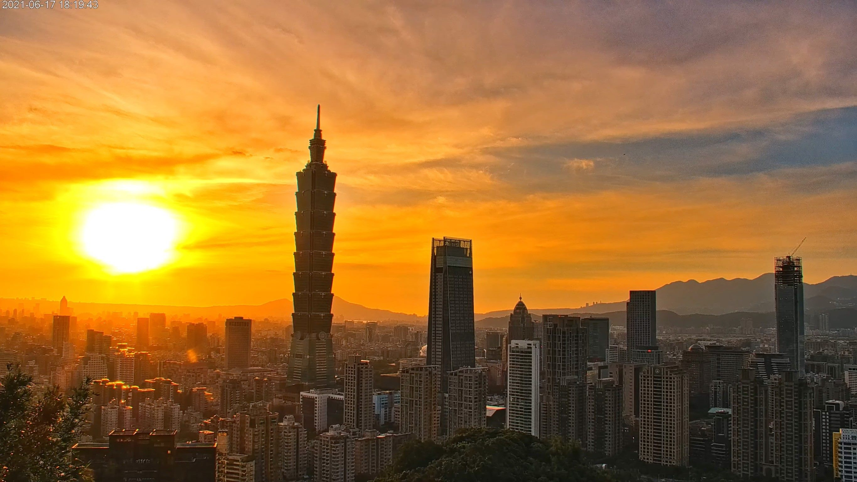 A view of Taipei from the live cam