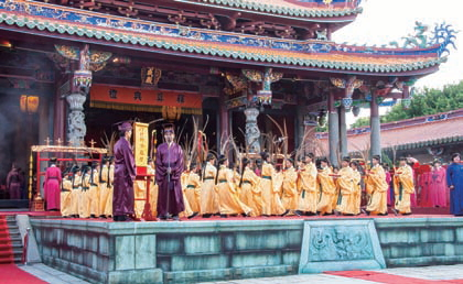 Shidian Ceremony held every year at Confucius Temple inDalongdong