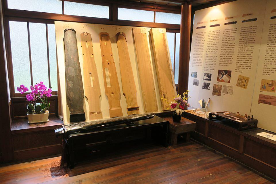 古琴常設展品、館內照片