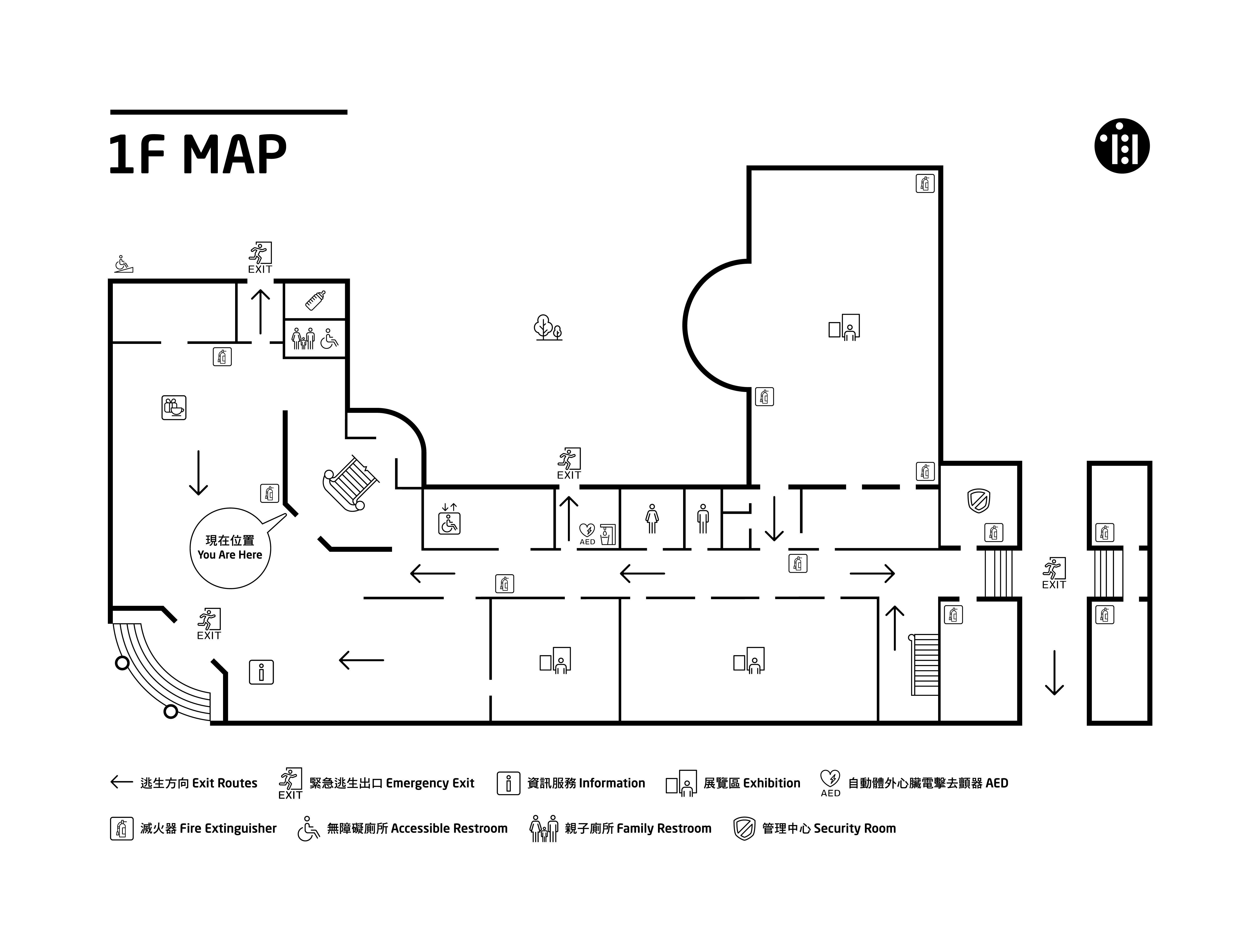 1F常設展區配置圖
