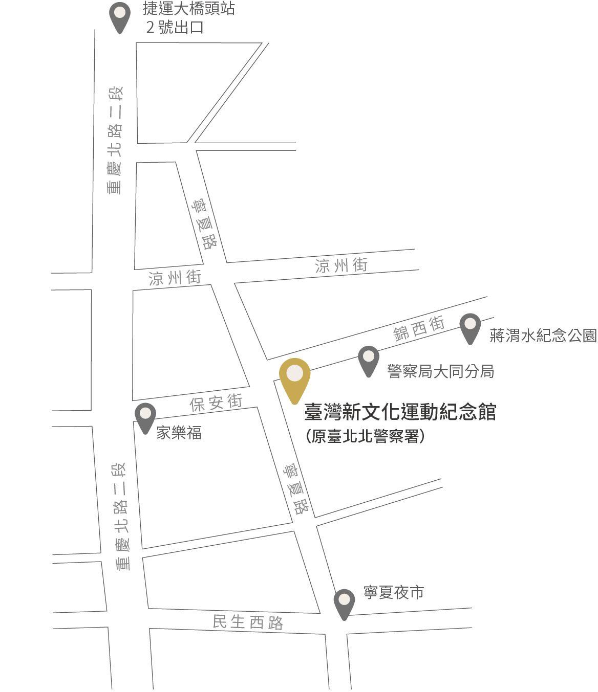 新文化運動紀念館-地理位置圖