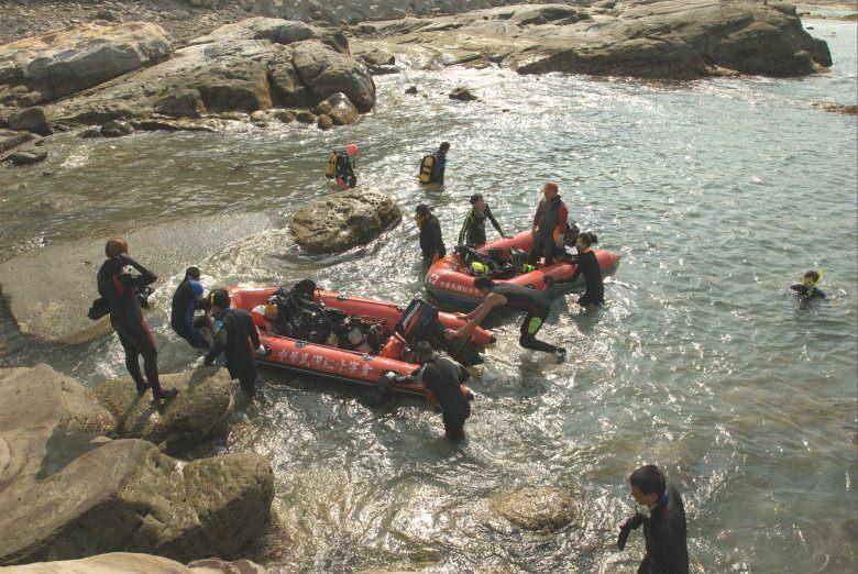 災害防救團體水域訓練照片