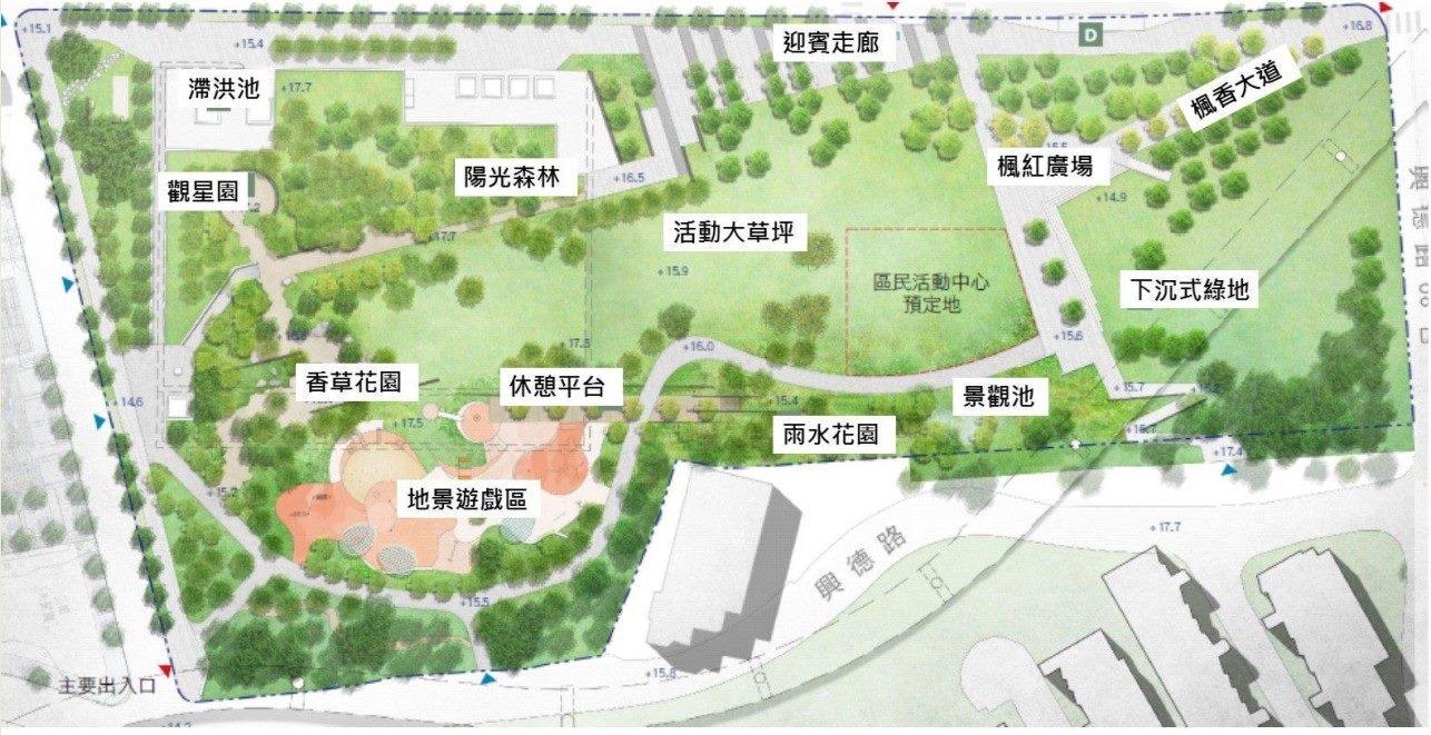 文木91號公園平面配置圖