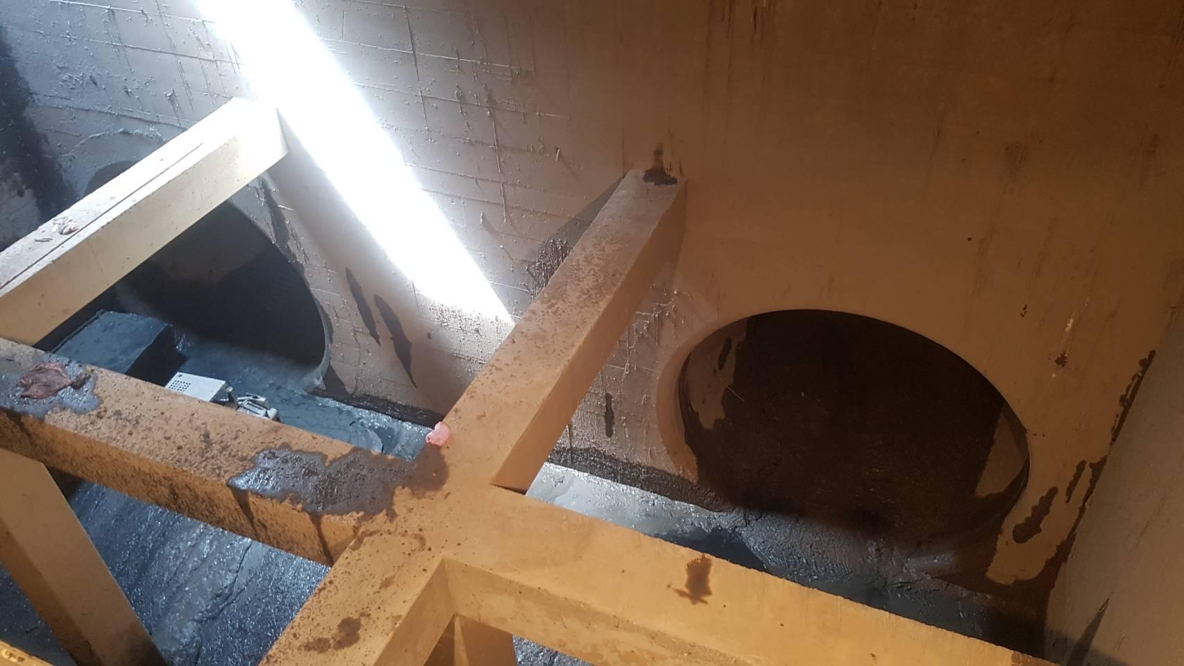 磺港溪壓力箱涵推管出發井