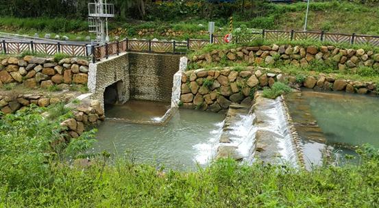 渠首工處無機械控制式高地排水箱涵及溢流堰