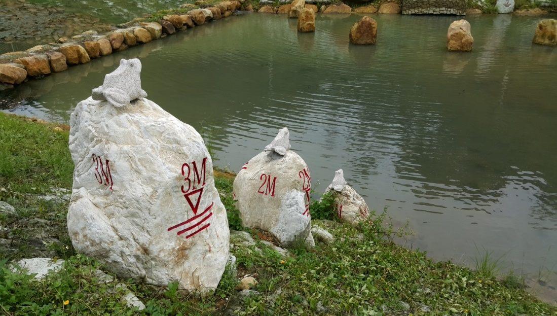 青蛙石水尺