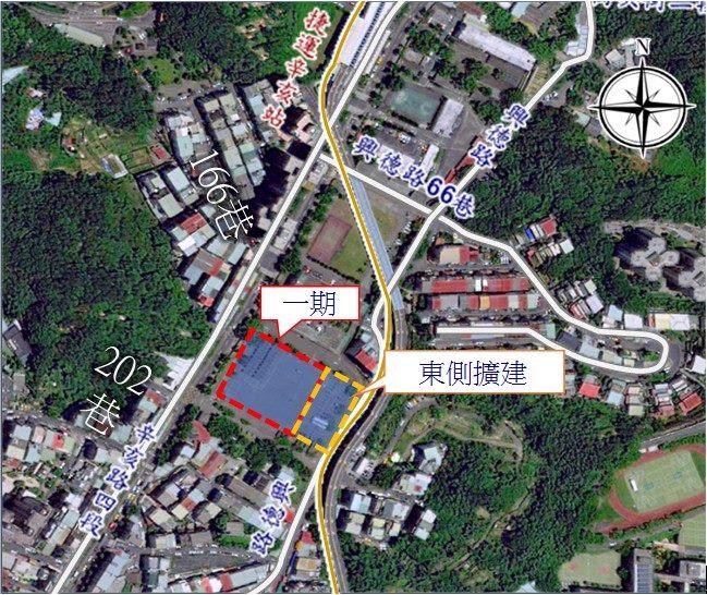 憲兵營區停車場滯洪池位置圖