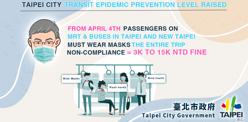 Taipei city transit epidemic prevention level raised