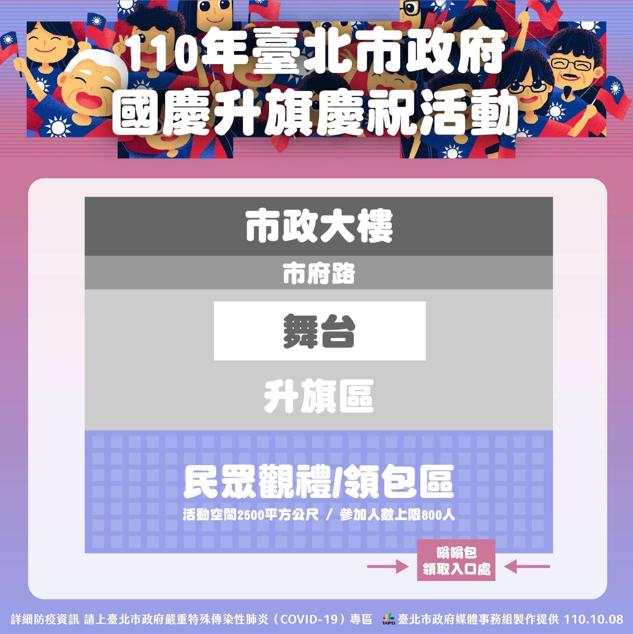110年臺北市政府國慶升旗慶祝活動